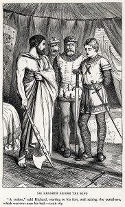 364px-Dalziel_Brothers_-_Sir_Walter_Scott_-_The_Talisman_-_Sir_Kenneth_before_the_King
