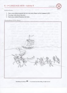 History Illustration in Language Arts