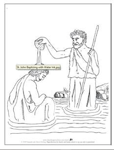 John Baptizing with Water