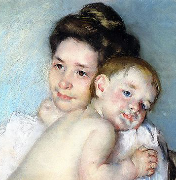 Cassatt_Mary_The_Young_Mother_(Mother_Berthe_holding_her_baby)_c._1900