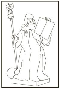 St Scholastica Statue