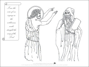 St. John the Baptist in Wilderness INK Coloring Page (English)