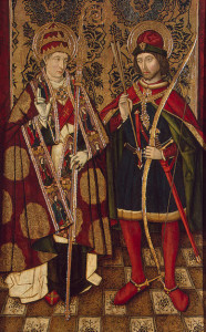 XV_century_Spanish_panel_of_Saint_Sebastian_and_Saint_Fabian
